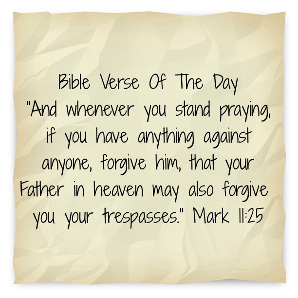 "Bible Quotes About Losing A Loved One Mesmerizing Bible Verse Of The Day""Forgiveness Leads To Breakthrough""  Lsw"