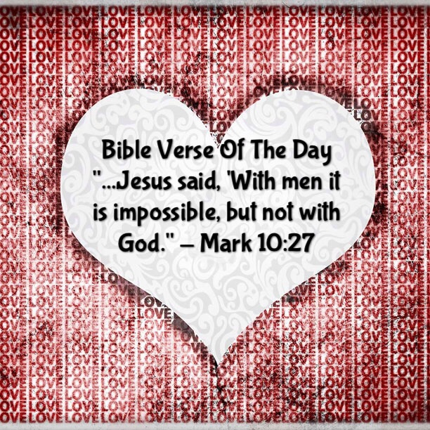 what is impossible with man verse