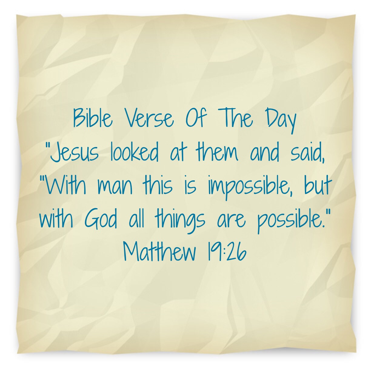 """Bible Quotes About Faith Bible Verse Of The Day """"Nothing Impossible With Faith""""  Lsw"""