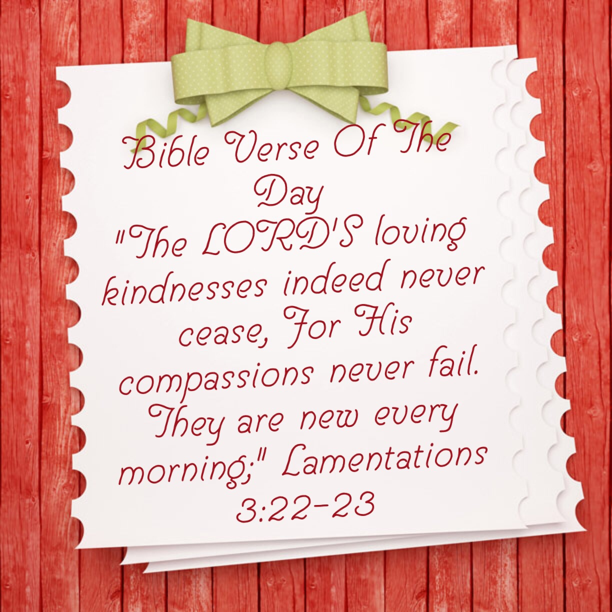"""Bible Verse Of The Day- """"God's Goodness Renews Daily"""